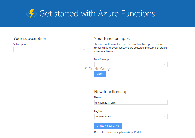 create-azure-function-page